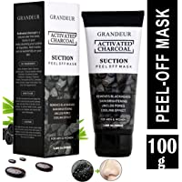 Grandeur Activated Charcoal Peel Off Mask,100g, Blackhead Remover Mask, Face Mask, Deep Cleansing Mask, Deep Pore Cleanse for Acne, Oil Control, and Anti-Aging Wrinkle Reduction (100g)