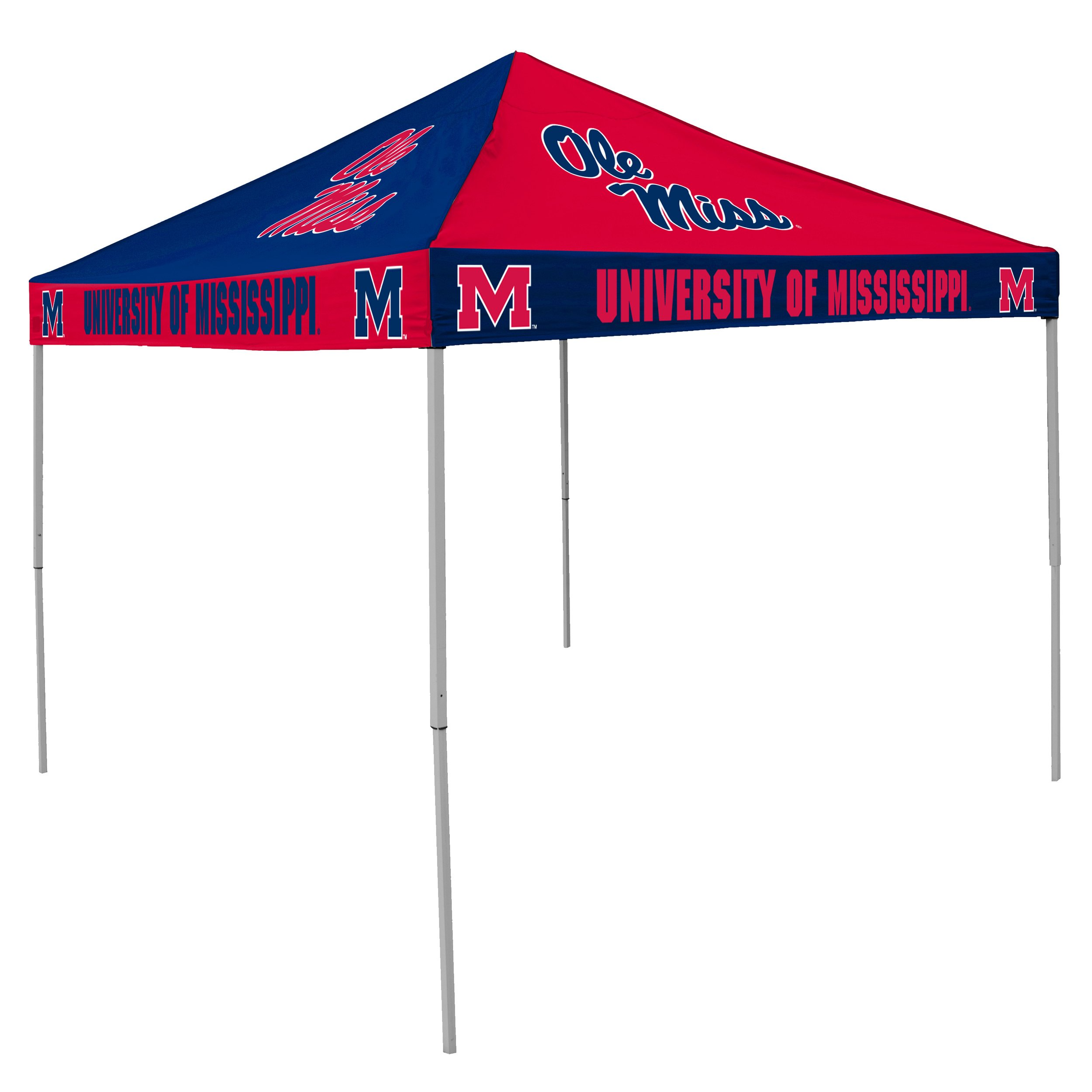 Logo Brands NCAA CB Tent, Mississippi (Ole Miss), 9 foot X 9 foot