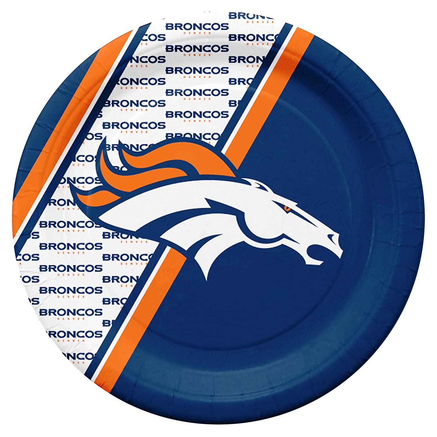 NFL Denver Broncos Disposable Paper Plates Pack of 20