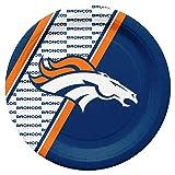 NFL Denver Broncos Disposable Paper Plates, Pack of 20
