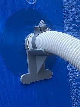 exclusive range picked up outlet store sale 2 supports de tuyau de piscine : Gris - Soutien des tuyaux de 30 à 37 mm,  par exemple Intex