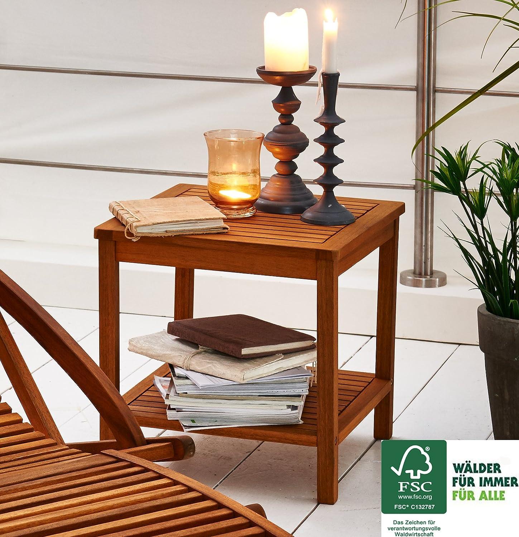 Table d appoint vorgeölt bois d acacia table de jardin Table basse