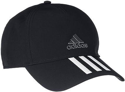 3a7fe2bdbde80 Adidas CG1784 C40 3-Stripes Climalite Cap - Black White Black Black Blck