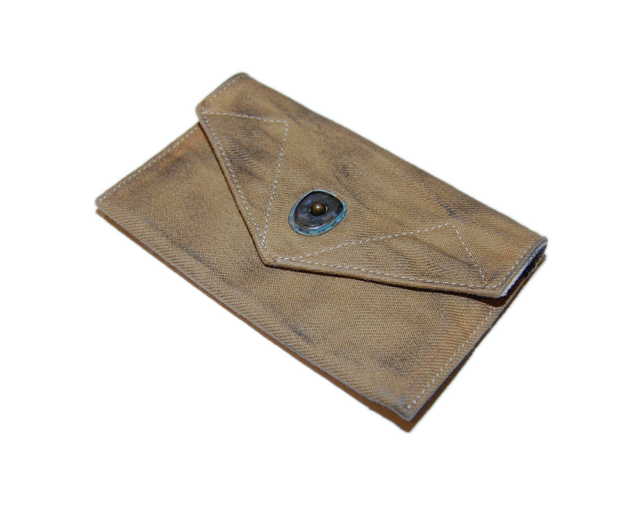 Polo Ralph Lauren RRL Mens Vintage Canvas Slim Wallet Pouch Khaki Beige Brown