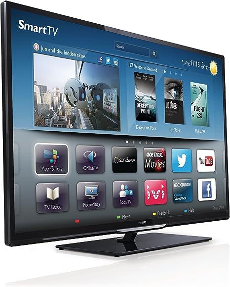 Philips 39PFL4208K/12 - Televisor con retroiluminación LED (eficiencia energética A+, full HD, 200 Hz PMR, DVB-T/C/S2, CI+, Smart TV, Wi-Fi), color negro [Importado de Alemania]: Amazon.es: Electrónica