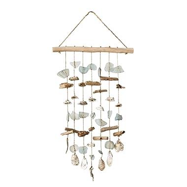 Creative Co-op DA7129 Driftwood Hanging Wind Chime Wall Décor