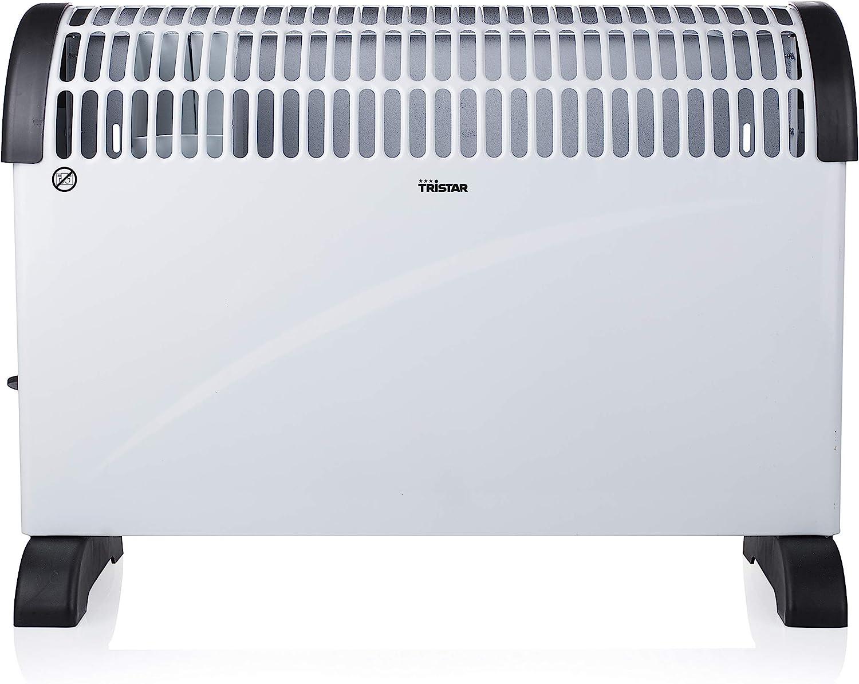 Tristar KA-5912 - Calefactor Convector con 3 Ajustes de Calor, Termostato Regulable, Asas Integradas, 2000 W, Modo Turbo, Blanco