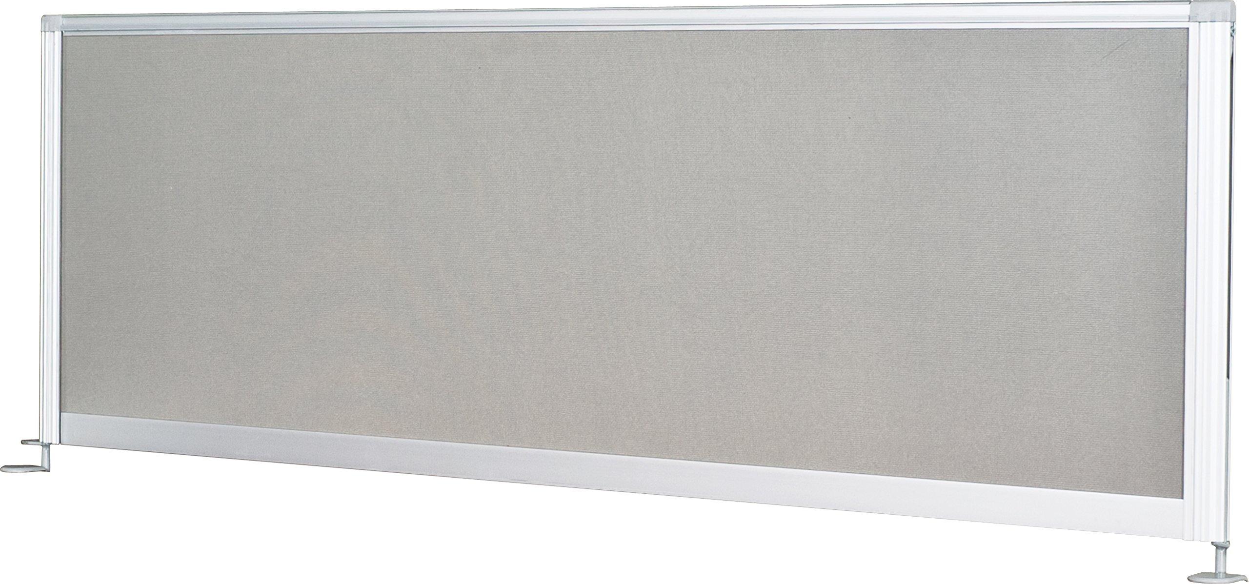 Balt iFlex Desktop Privacy Panels, Full Length, 17''H x 49''W x 1''D (90062)