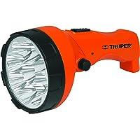 Truper LILE-9T, Linterna plástica recargable, 70 Lúmenes, 1 LED alta potencia