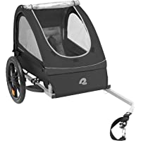 Retrospec Rover Kids Bicycle Trailer Single and Double Passenger Children's Foldable Tow Behind Bike Trailer with 16…
