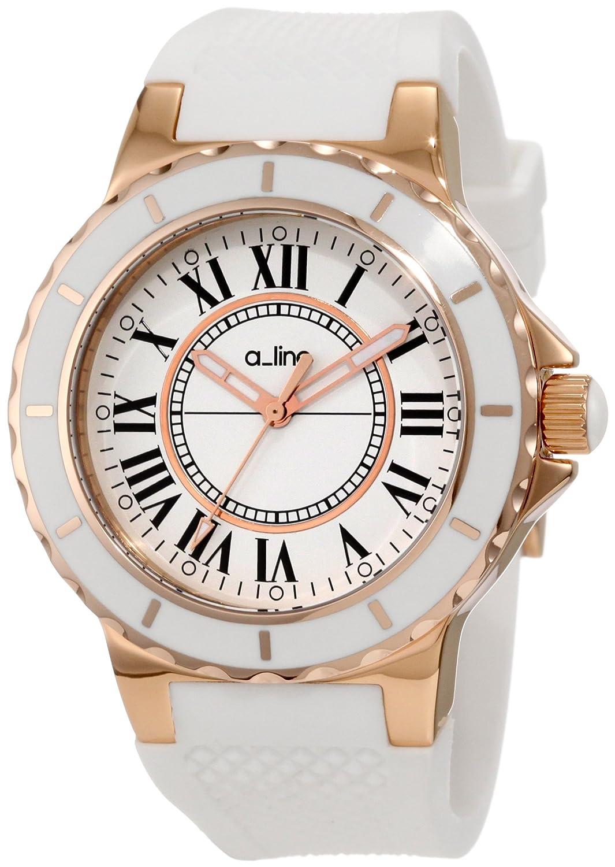 A Line – al-20008 – Armbanduhr – Quarz Analog – Armband Silikon weiß