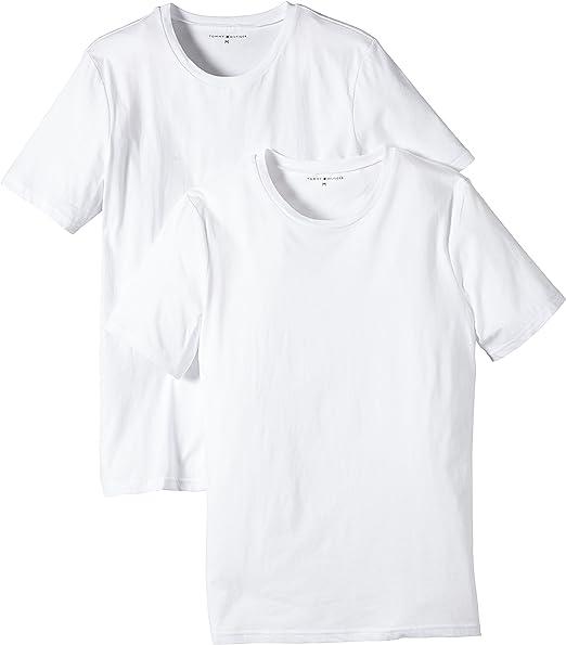 Tommy Hilfiger Cotton cn tee SS 2pack, Camiseta para Hombre, Blanco Brillante (Bright White) 112 M Pack de 2: Amazon.es: Ropa y accesorios