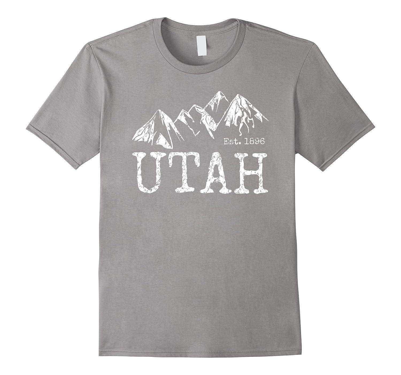 Vintage Utah Distressed Trendy Mountain Home Hiking T-shirt-CD