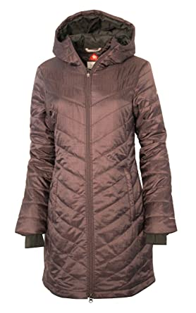5a503e255a4da Columbia Omni-Heat Morning Light II Hooded Womens Long Coat Parka (Purple  Sage