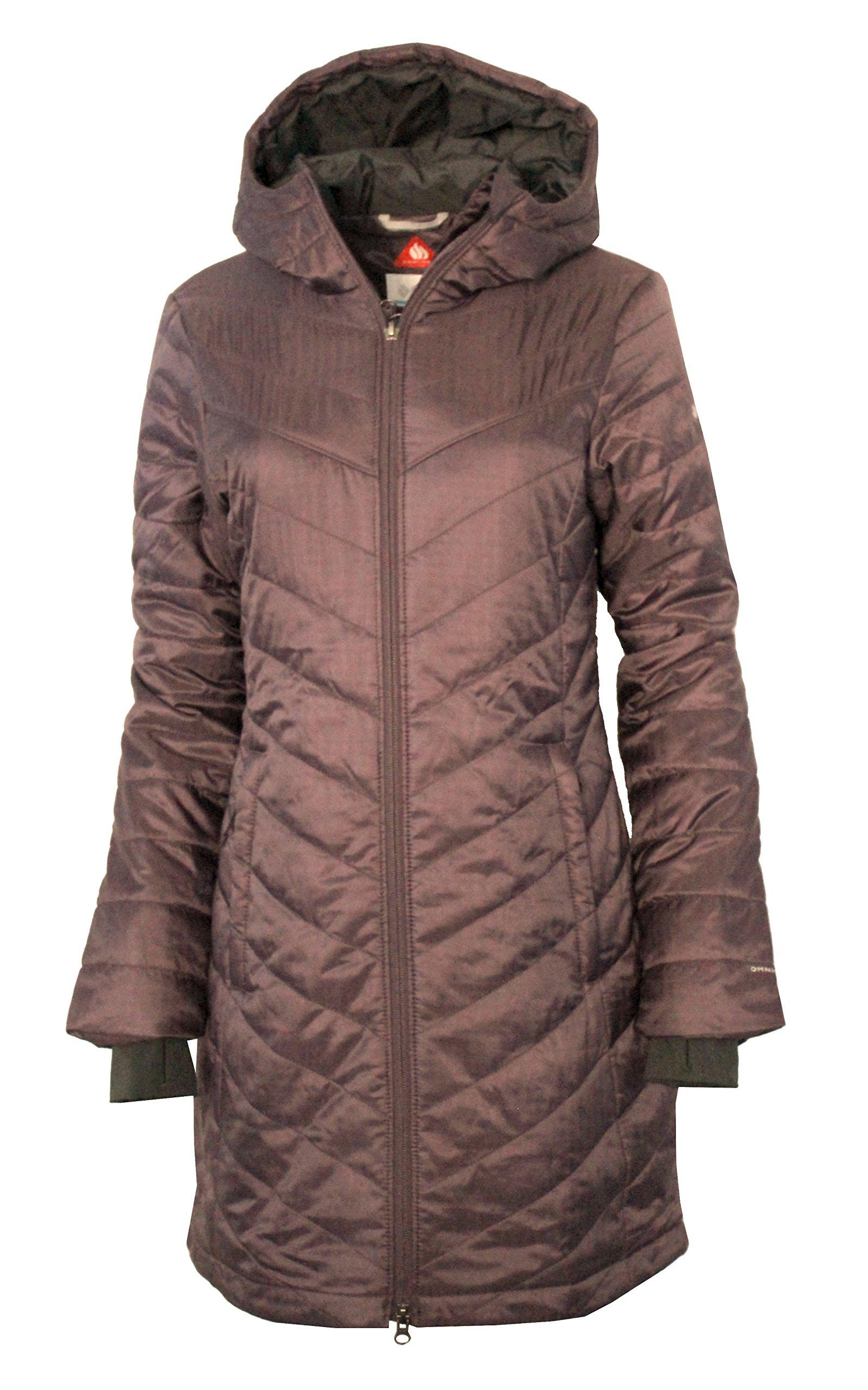 Columbia Omni-Heat Morning Light II Hooded Womens Long Coat Parka (Purple Sage, L) by Columbia