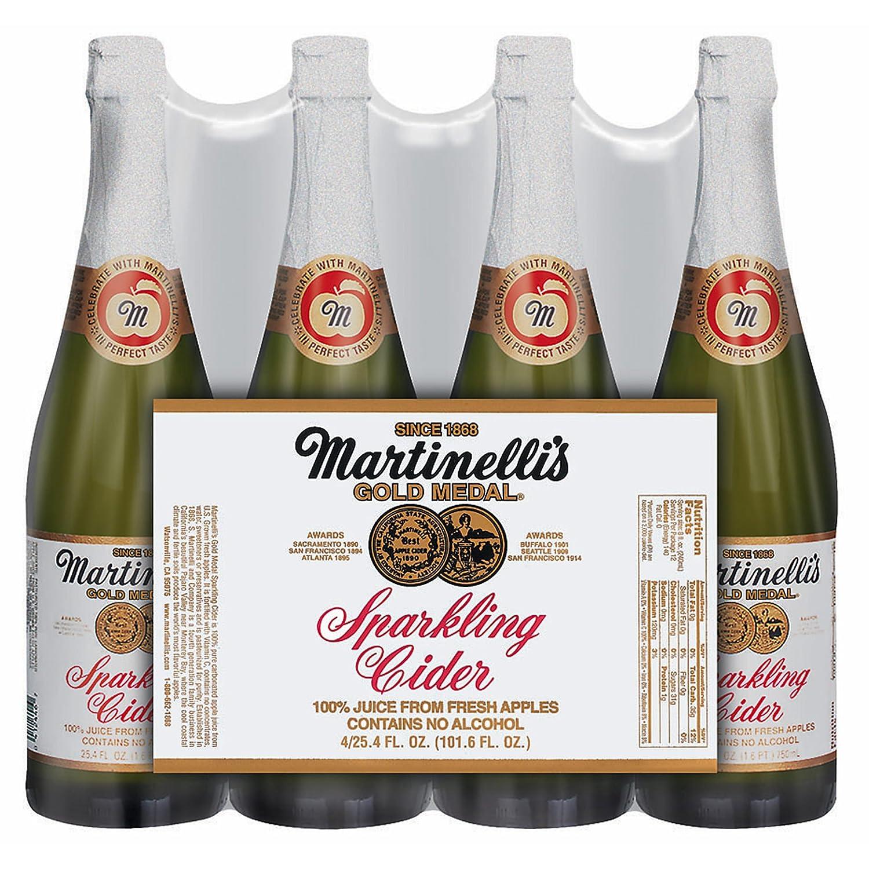 Martinelli Sparkling Apple Cider, 25.4 oz.Bottles, 4 pk. (pack of 2)