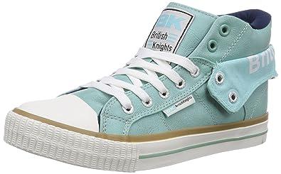 British Knights Roco, Damen Hohe Sneakers, Grün (Mint-Navy 22),