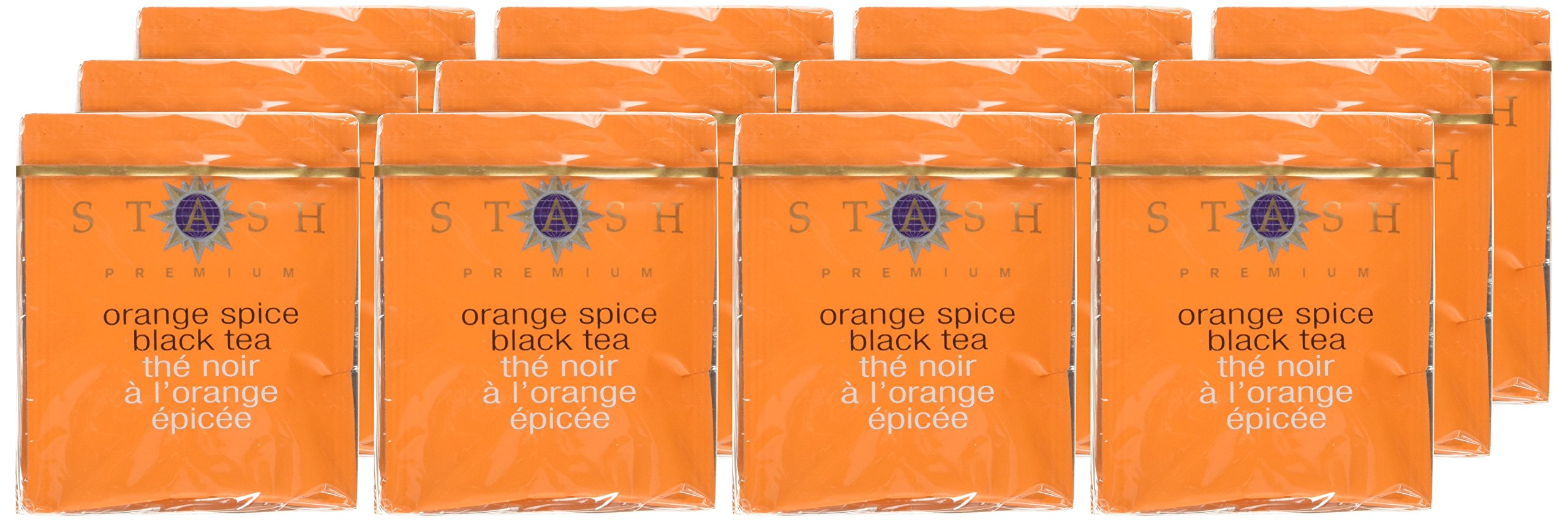 Stash Tea Orange Spice Black Tea 10 Count Tea Bags in Foil (Pack of 12) (packaging may vary) Individual Black Tea Bags for Use in Teapots Mugs or Cups, Brew Hot Tea or Iced Tea by Stash Tea (Image #2)