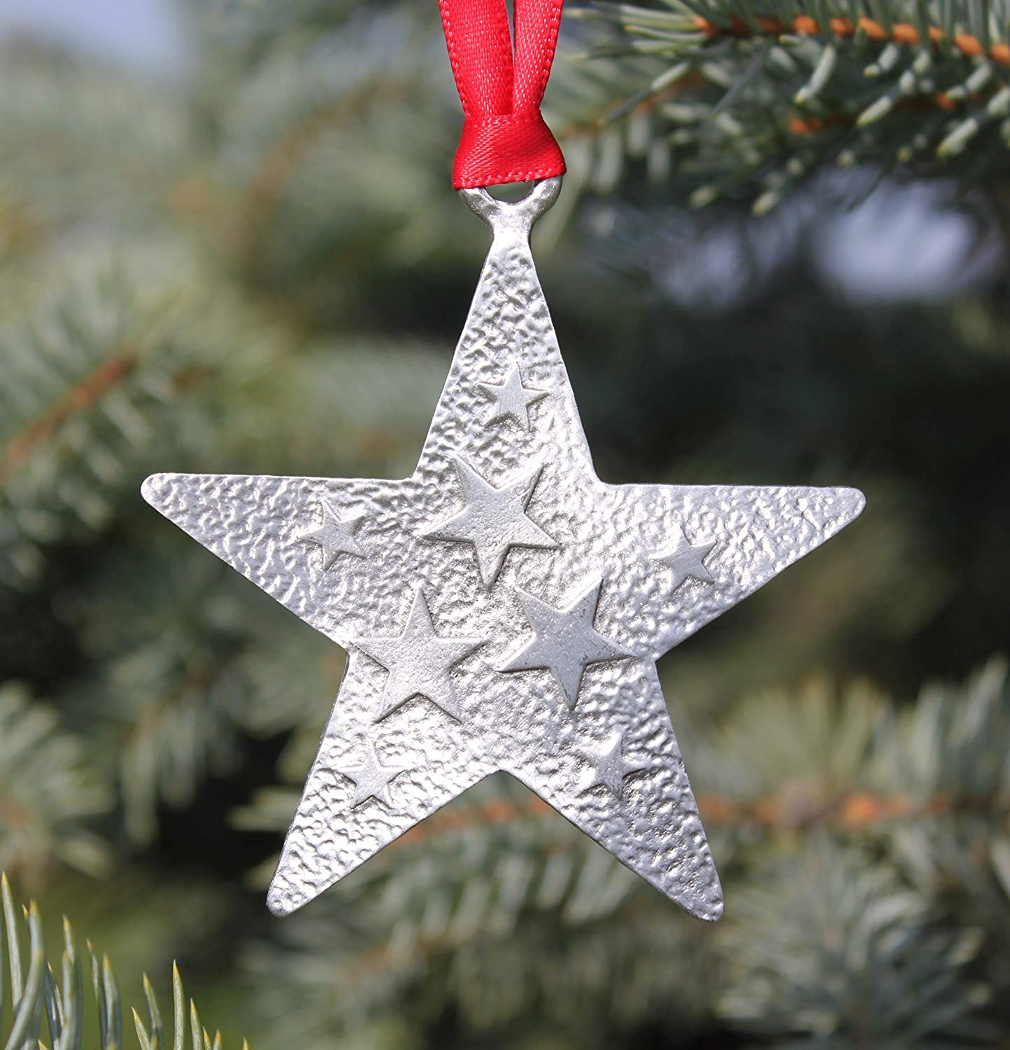 Hastings Pewter Company Large Lead Free Pewter Star Ornament Made in Michigan decoration