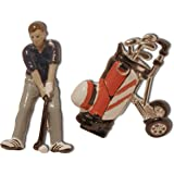 3D Golfer and Bag Cufflinks