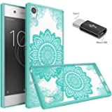Sony Xperia XA1 Ultra Case With Micro USB to Type c Adapter, Wtiaw [Scratch Resistant] Acrylic Hard Cover With Rubber TPU Bumper Hybrid Ultra Slim Protective for Sony Xperia XA1 Ultra-YKL mint