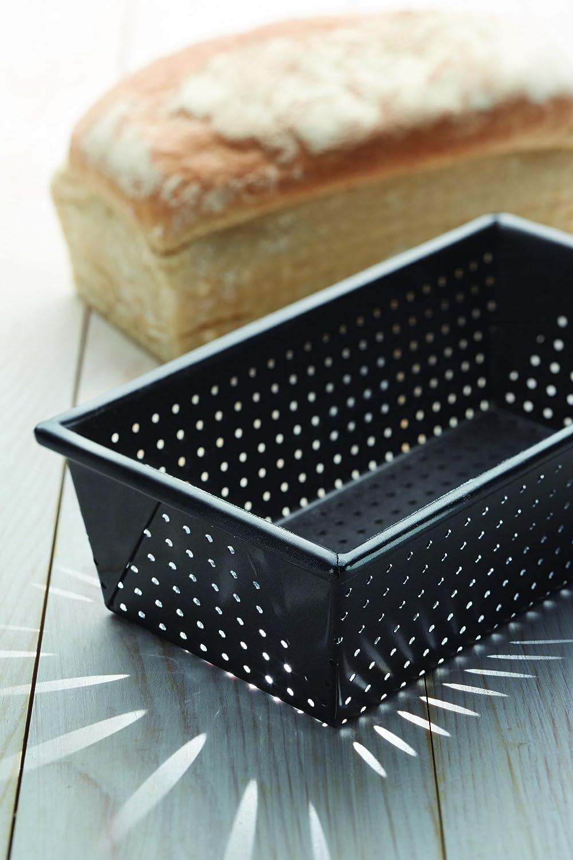 28 x 28 x 18 cm Kitchen Craft KCMCCB20 Moule /à Pain Acier au Carbone Gris