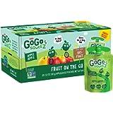 GoGo squeeZ Applesauce, Apple Apple, 3.2 oz (20 Pouches), Gluten Free, Vegan Friendly, Unsweetened Applesauce…