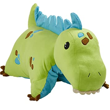 Amazon Com Pillow Pets Dinosaur Green Dinosaur 18 Stuffed Animal