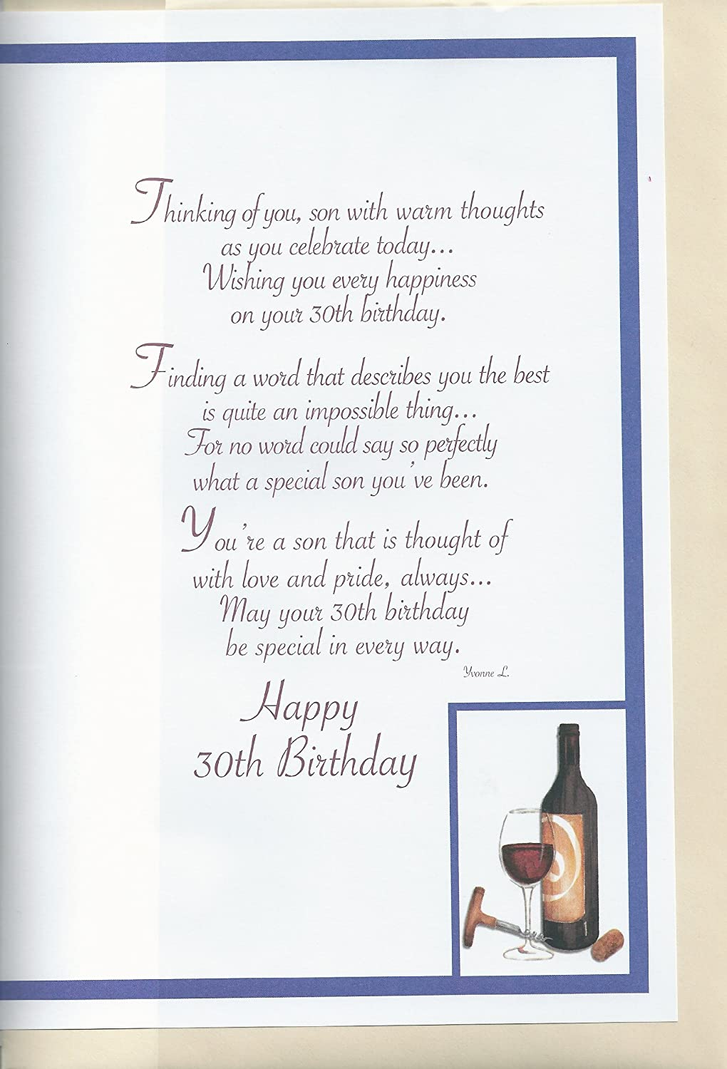 for a special son th birthday card amazon co uk kitchen home