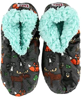 b76ad32b6f74 Born to Be Wild Womens Plush Fuzzy Feet Slippers by LazyOne