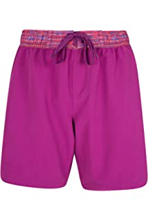 cb475f5254 Mountain Warehouse Long Womens Boardshorts - Soft Swim Shorts, Fast Dry  Ladies Swim Shorts,…