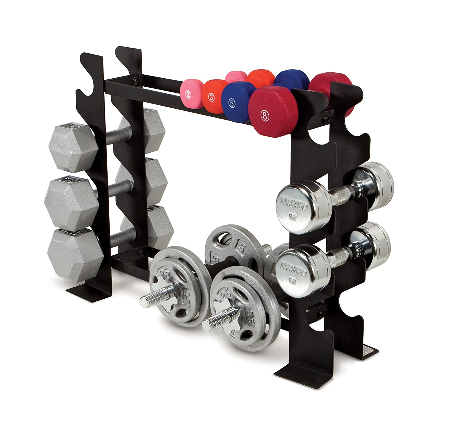 marcy pact dumbbell rack free weight stand for