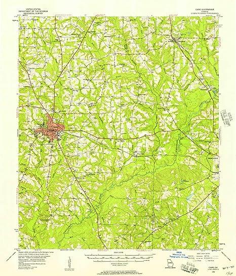 Map Of Cairo Georgia.Amazon Com Yellowmaps Cairo Ga Topo Map 1 62500 Scale 15 X 15