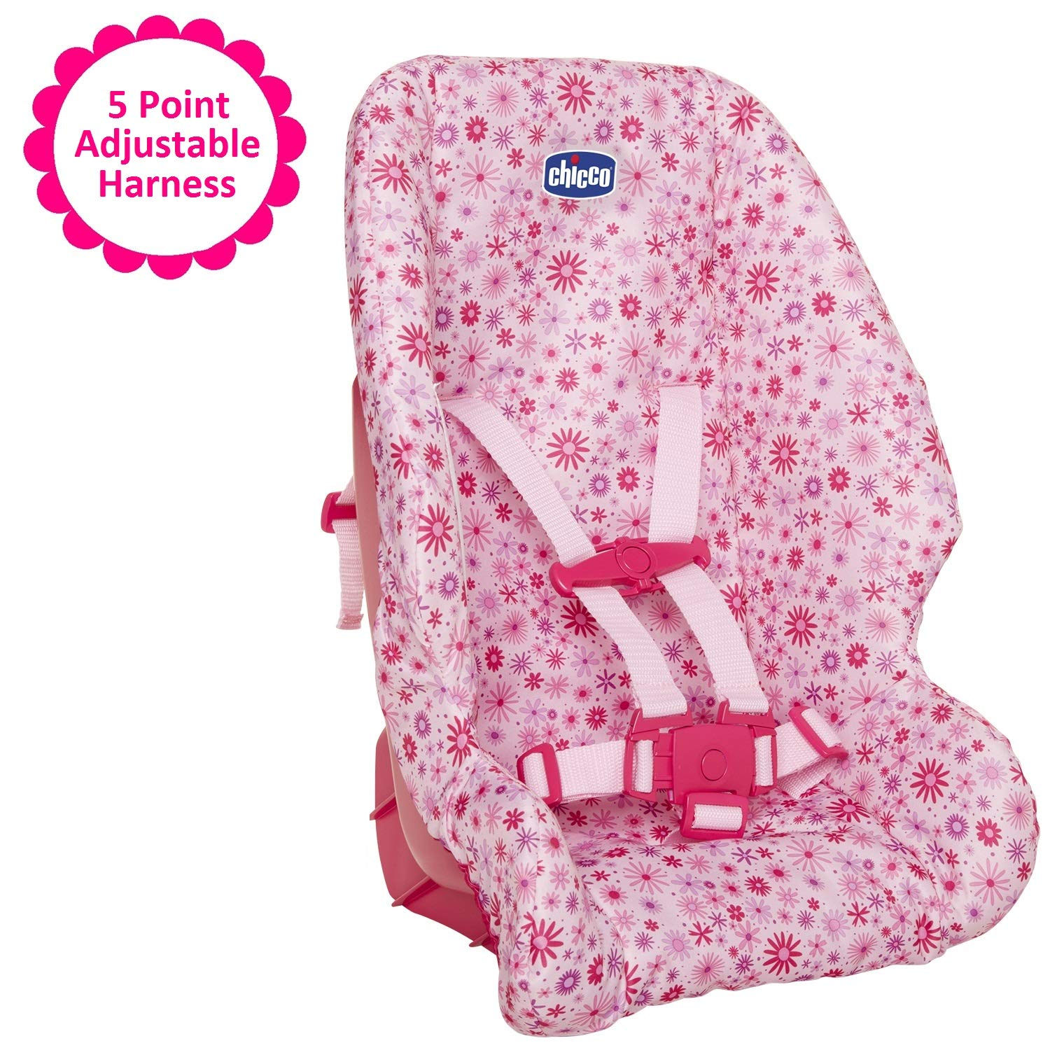 Baby Doll Car Booster Seat by Chicco, For Baby Dolls Up To 18 Inches Tall, For Girls ages 3, 4, and 5 Years Old, Perfect Gift for Birthday Christmas or Hanukkah by Chicco