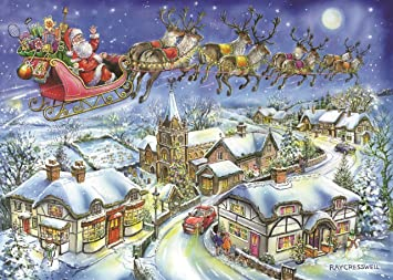 Christmas Jigsaw Puzzles.The House Of Puzzles 1000 Piece Jigsaw Puzzle 2018 Christmas Collectors Edition No 13 Christmas Eve New July 2018