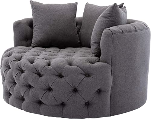 YISHEN Modern Swivel Accent Chair Barrel Chair