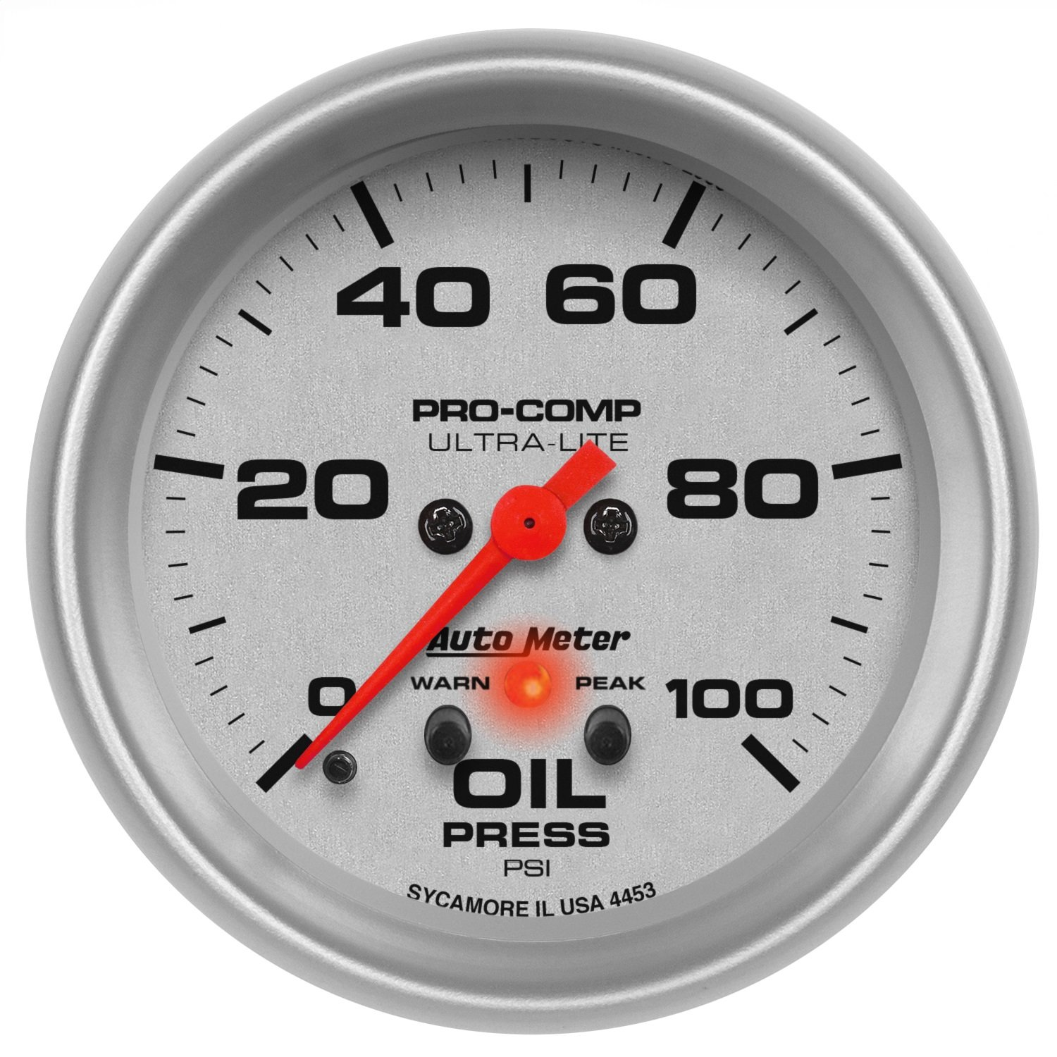 ... and detailed instructions for installation; Auto Meter 4453 Ultra-Lite  Electric Oil Pressure Gauge 30%OFF