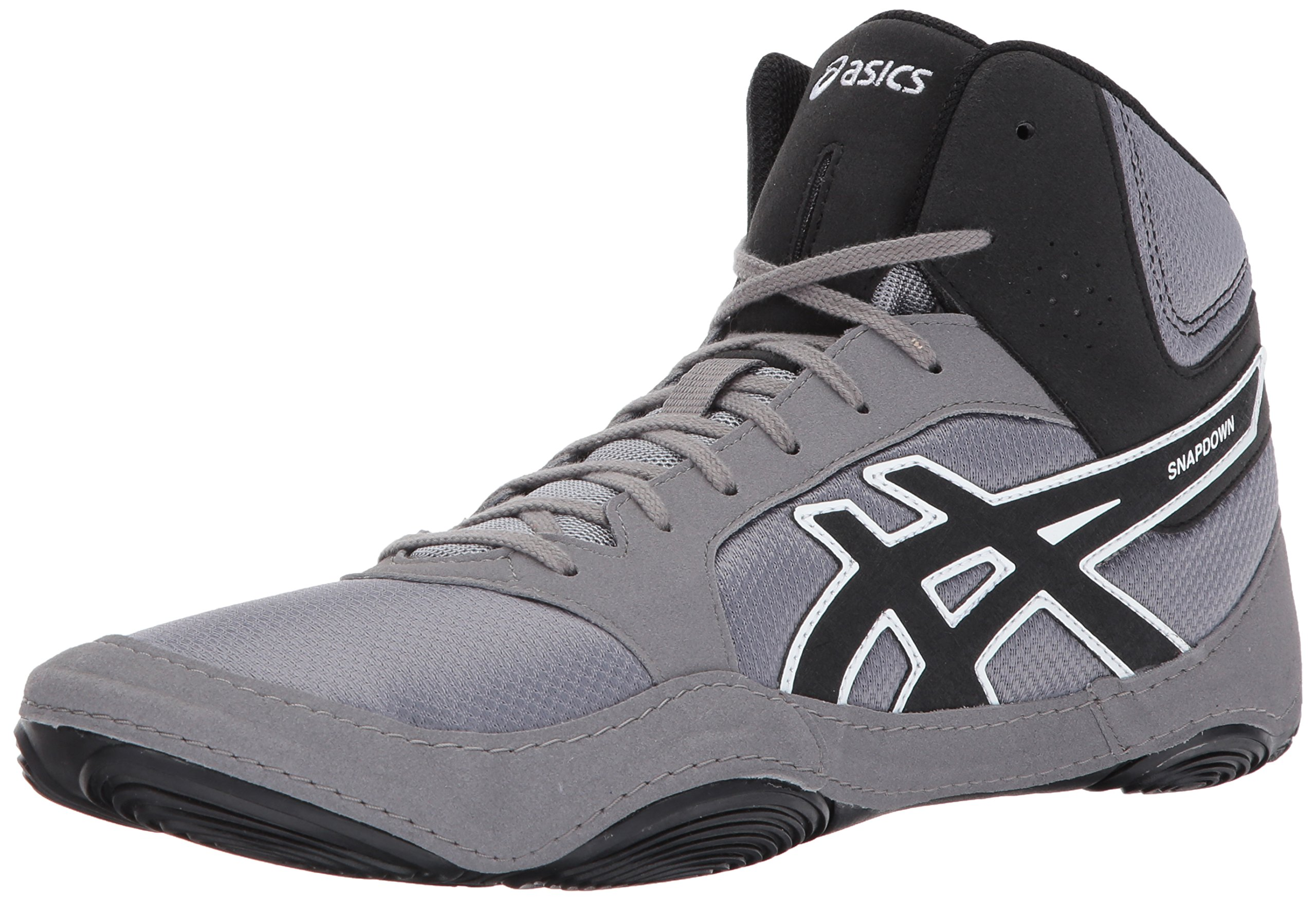 ASICS Mens Snapdown 2 Wrestling Shoe, Black/Aluminum/White, 8.5 Medium US