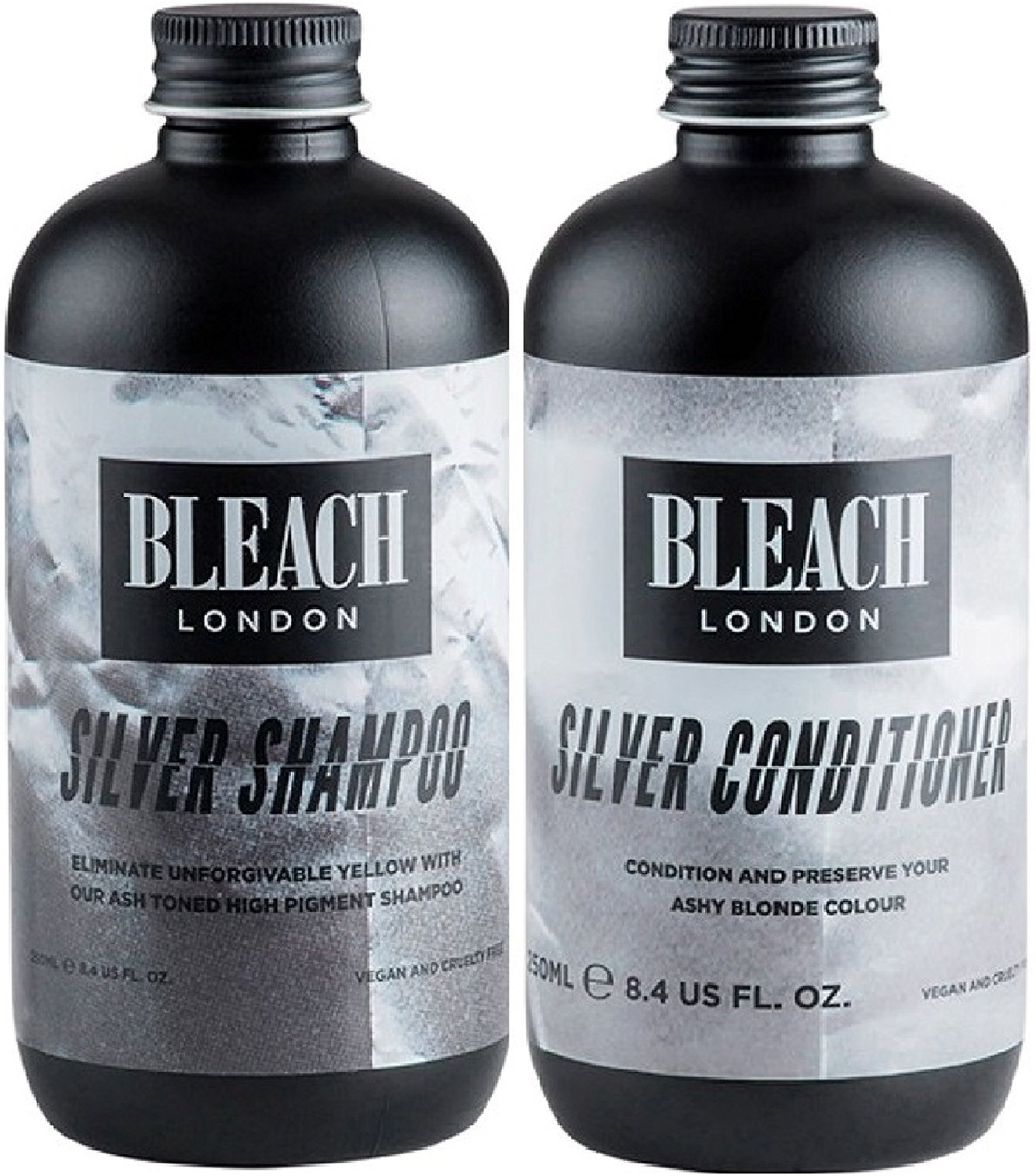 (2 PACK) Bleach London Silver Shampoo x 250ml & Bleach London Silver Conditioner x 250ml