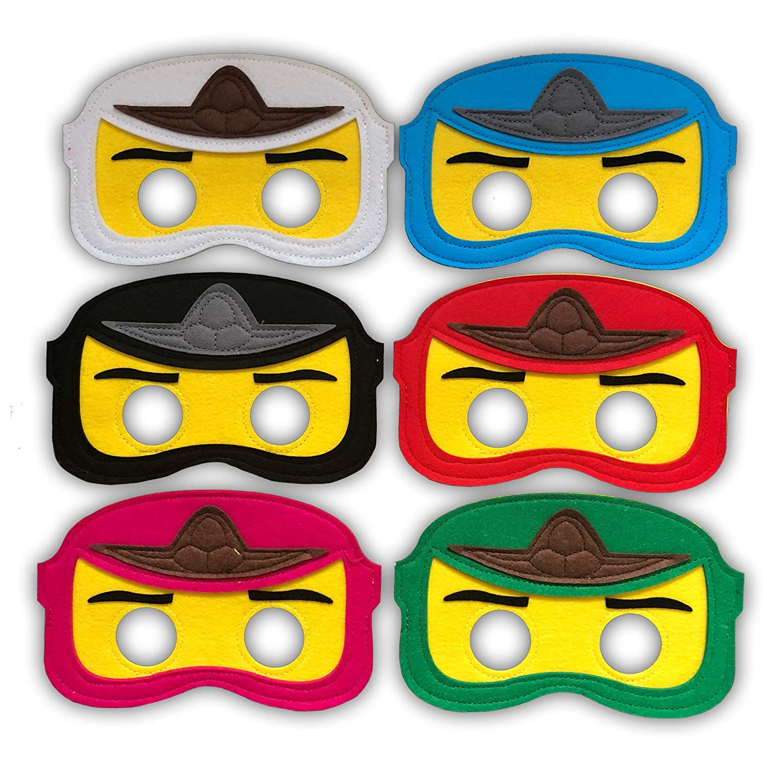 Pixel Products Ninjago Felt Masks Perfect Party Masks