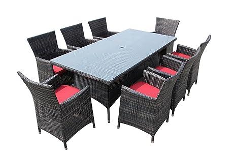 amazon com 8 seater patio set outdoor dining set backyard dining
