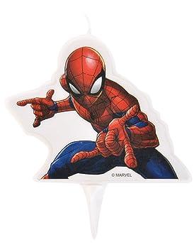 Generique - Vela de cumpleaños Spiderman 9 x 7 cm