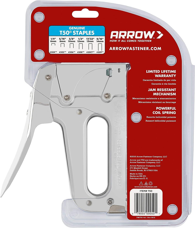 3 // 8inch heavy duty boîte DE 1250 AGRAFES # 506 ARROW Fastener T50 10mm