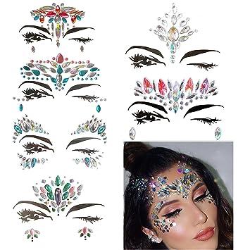 Amazon.com   Women Mermaid Face Gems Glitter 897db23f3ec6