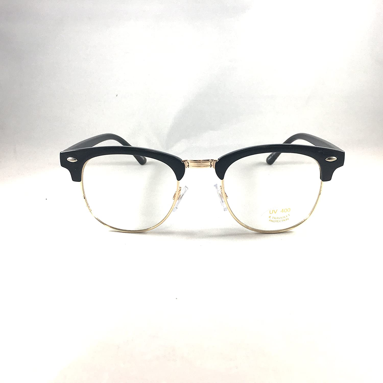 Eyeglasses Keyhole Half Horn Rimmed Frame Micro fiber case cloth by Visualeyewear