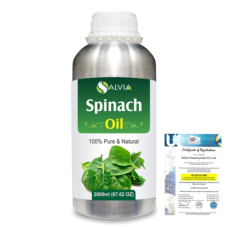 Spinach (Spinacia Oleracea) 100% Pure Natural Carrier Oil 2000ml/67 fl.oz. B07RLHJKTC