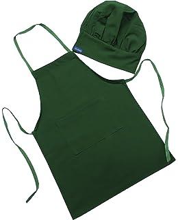 CHEFSKIN Green Starbucks Color Barista Set Apron   Hat Fits 2-8 Yr Olds Kids deea98e65197