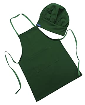 CHEFSKIN Green Starbucks Color Barista Set Apron /& Hat Fits 2-8 Yr Olds Kids Children CHEFSKIN STARBUCKS