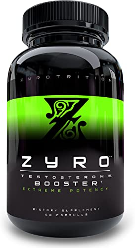 Zyro Test Booster for Men – Natural Supplement for Increasing Strength, Stamina, and Energy, 60 Testosterone Boosting Capsules