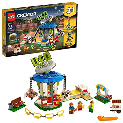 LEGO Creator 3in1 Fairground Carousel 31095 Building Kit (595 Pieces): Toys & Games